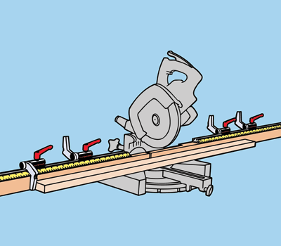 Flipstop attached to a saw