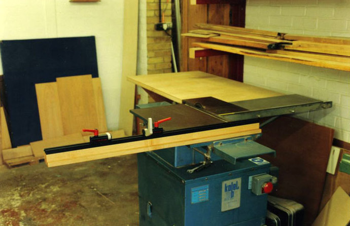 Unknown Brand Sliding Table Saw Setup
