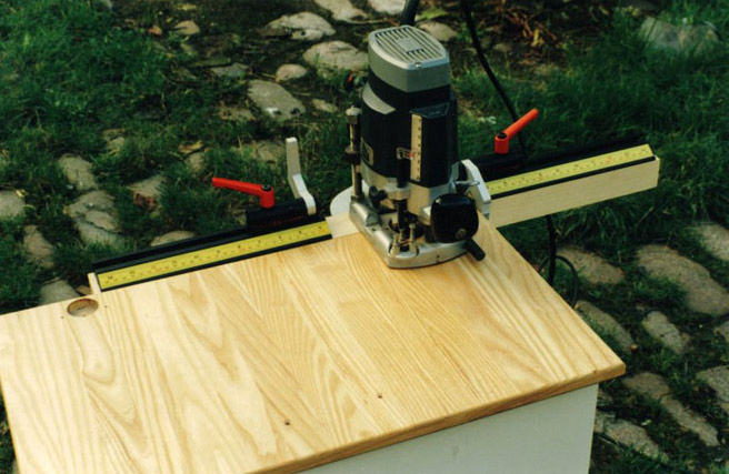 Very handy if the panels are too large to handle on a Drill Press